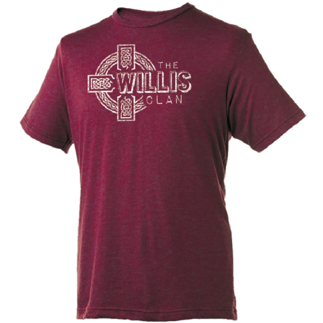 Willis Clan Heather Burgundy Tee